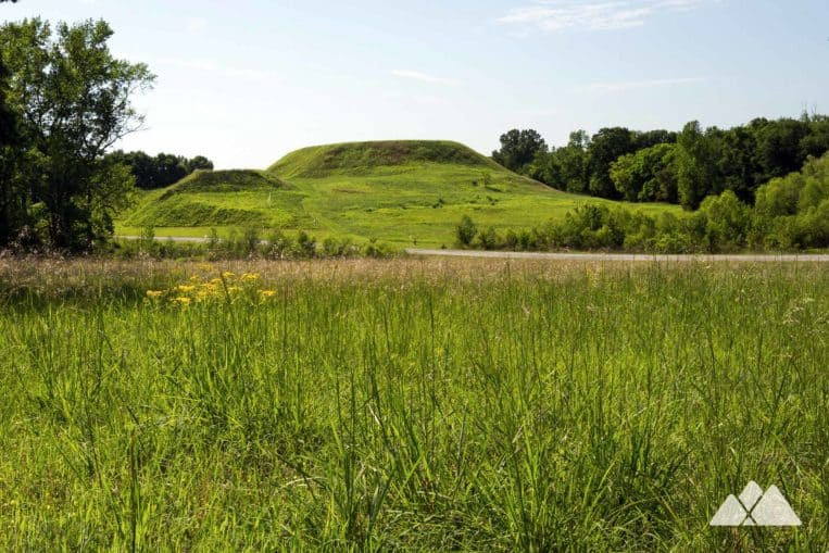Hike the Ocmulgee National Monument near Macon, Georgia to ancient Native American mounds