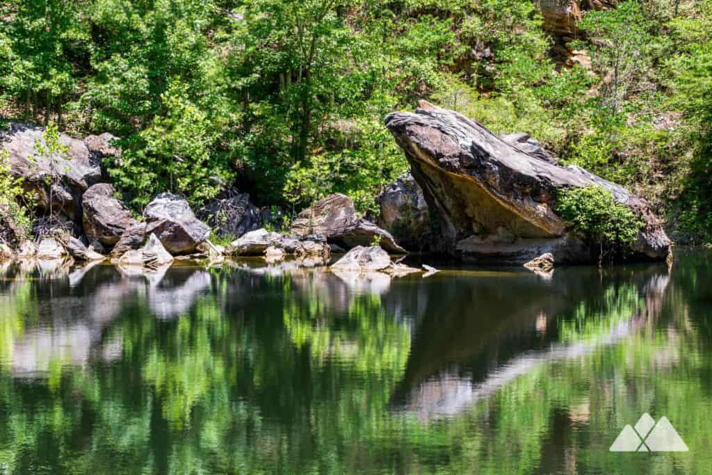 Hike the Pine Log Creek Trail in North Georgia to a remote, historic quarry near Lake Allatoona