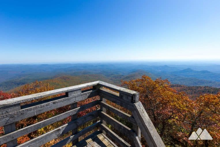 Hike the Bartram Trail in Georgia to the summit of Rabun Bald, and catch stunning 360-degree panoramic views from an old fire tower platform