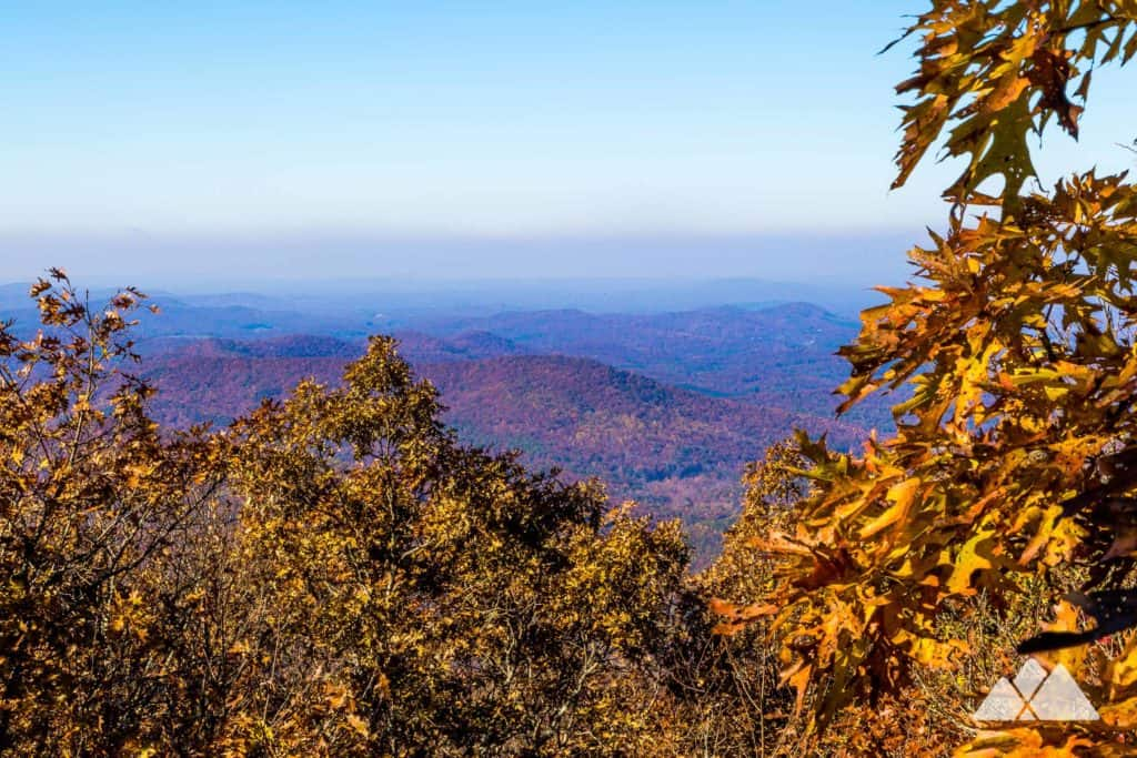 Springer Mountain Loop Trail in autumn: hiking the Appalachian Trail in Georgia to beautiful fall leaf color