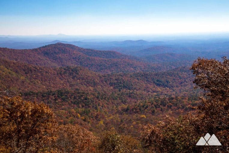 Springer Mountain Loop: hike the Appalachian Trail and Benton MacKaye Trail in North Georgia, catching summit views from multiple overlooks