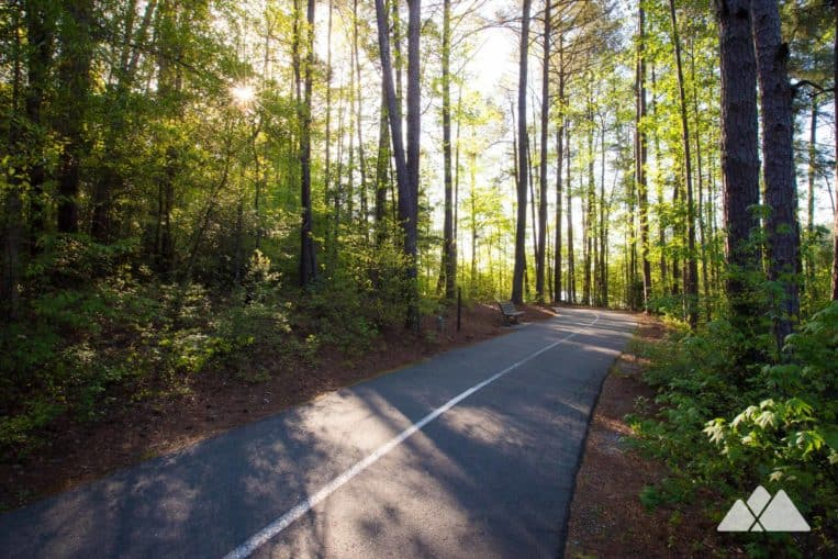 Run the paved trail at Tribble Mill Park, a nearly-three-mile loop and one of Atlanta's top places to run