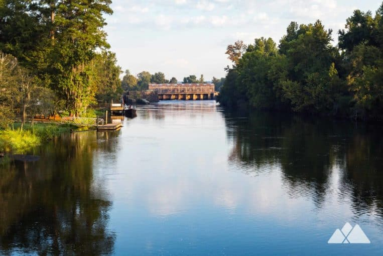 Augusta Canal Towpath Trail: bike or run to beautiful views of the canal's headgates at Savannah Rapids Park