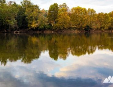 Chattahoochee Bend State Park: hiking the Riverside Trail and Bend Trail to the park's platform campsites