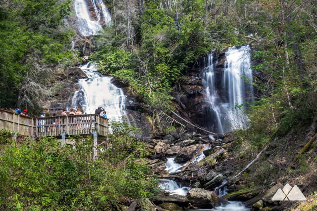 Smith Creek Trail: hike from Unicoi State Park to the double waterfall at Anna Ruby Falls