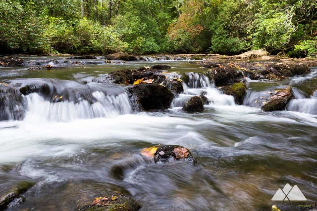 Hike Smithgall Woods State Park near Helen, GA to tumbling waterfalls, historic gold mines and the beautiful cascades of Dukes Creek