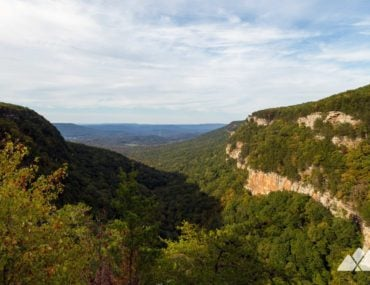 West Rim Loop Trail at Cloudland Canyon State Park in Georgia