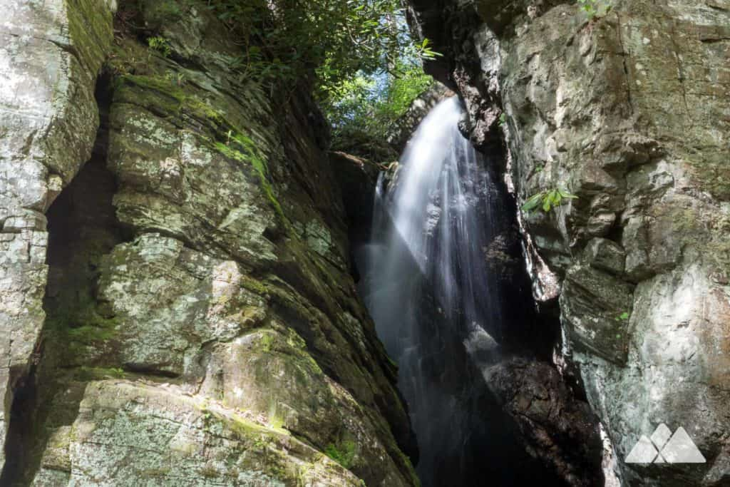 Continuous waterfalls and a level slop make Raven Cliff Falls a worthwhile beginner-friendly hike in North Georgia