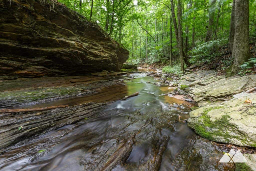 Hike the Johnson Ferry Trail on the Chattahoochee River near Atlanta, visiting a small waterfall in a scenic forest