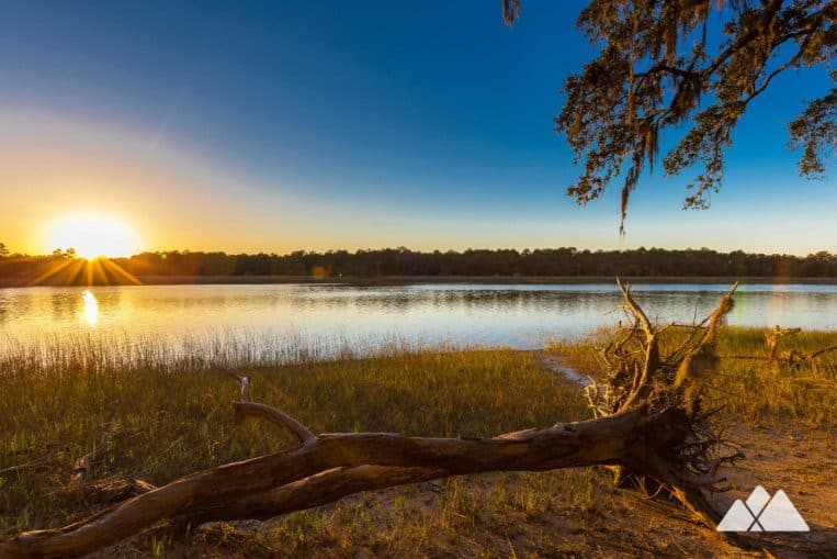 Outdoor date ideas in Georgia: catch a romantic sunset at Skidaway Island State Park in Savannah
