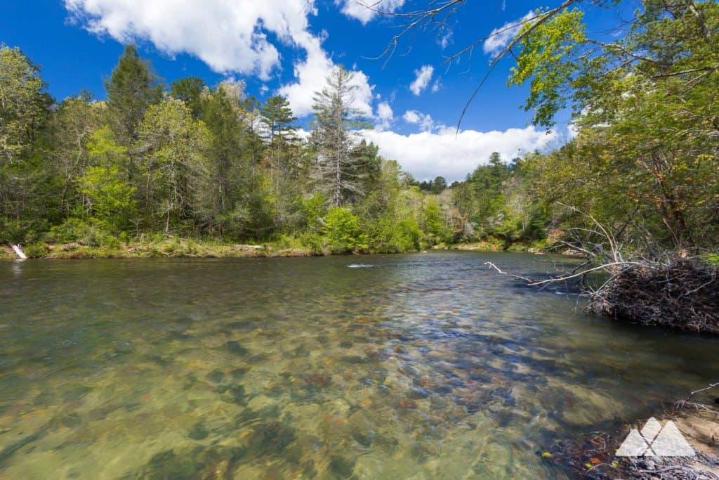 Hike the Bartram Trail and Chattooga River Trail on the banks of the scenic, clear-flowing Chattooga River near Clayton