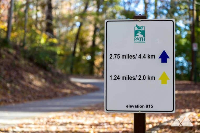 Run the Chastain Park Trail in Atlanta's Buckhead neighborhood, following color-coded 5k and 3k loops