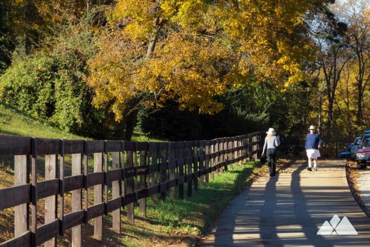 Top places to run in Atlanta: the 5k trail at Chastain Park loops through a scenic park setting in Buckhead