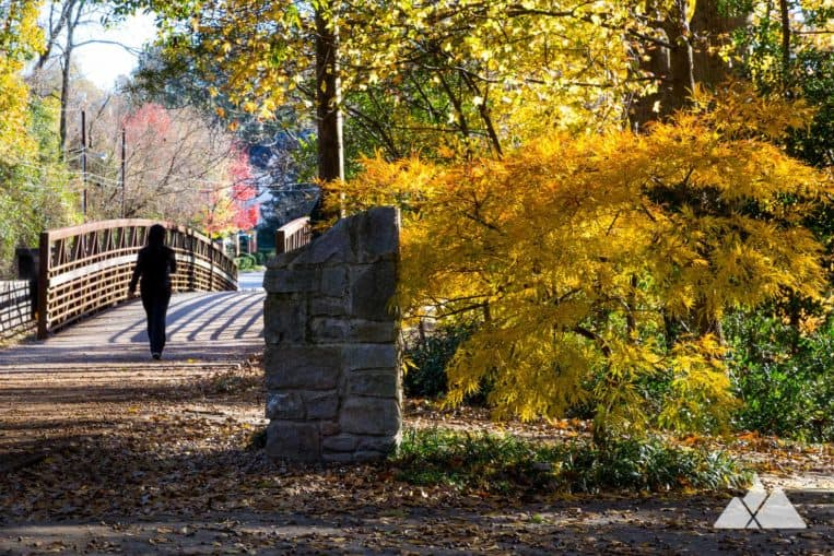 Top Atlanta walking and running trails: the Chastain Park Trail visits a beautifully landscaped park in Buckhead