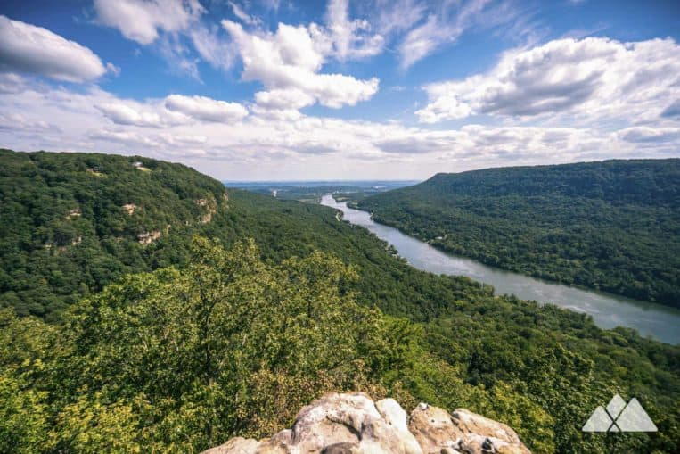 Hike to outstanding views from Edwards Point on Signal Mountain, following the Cumberland Trail in Chattanooga, TN