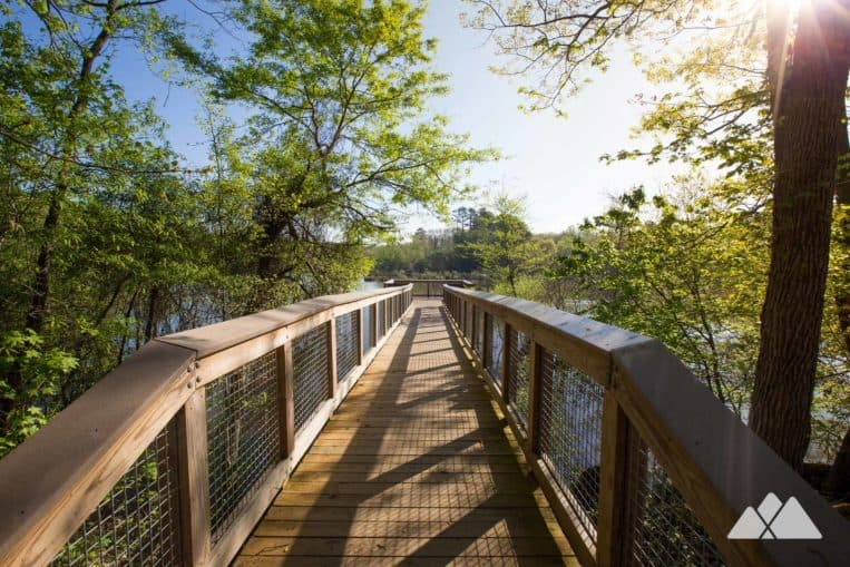 Run the scenic wetlands at George Pierce Park on the Ivy Creek Greenway, one of our favorite places to run in metro Atlanta