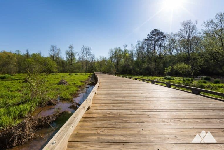 Top Atlanta, GA running trails: run the ultra-scenic George Pierce Park through wildlife-filled marsh on the Ivy Creek Greenway