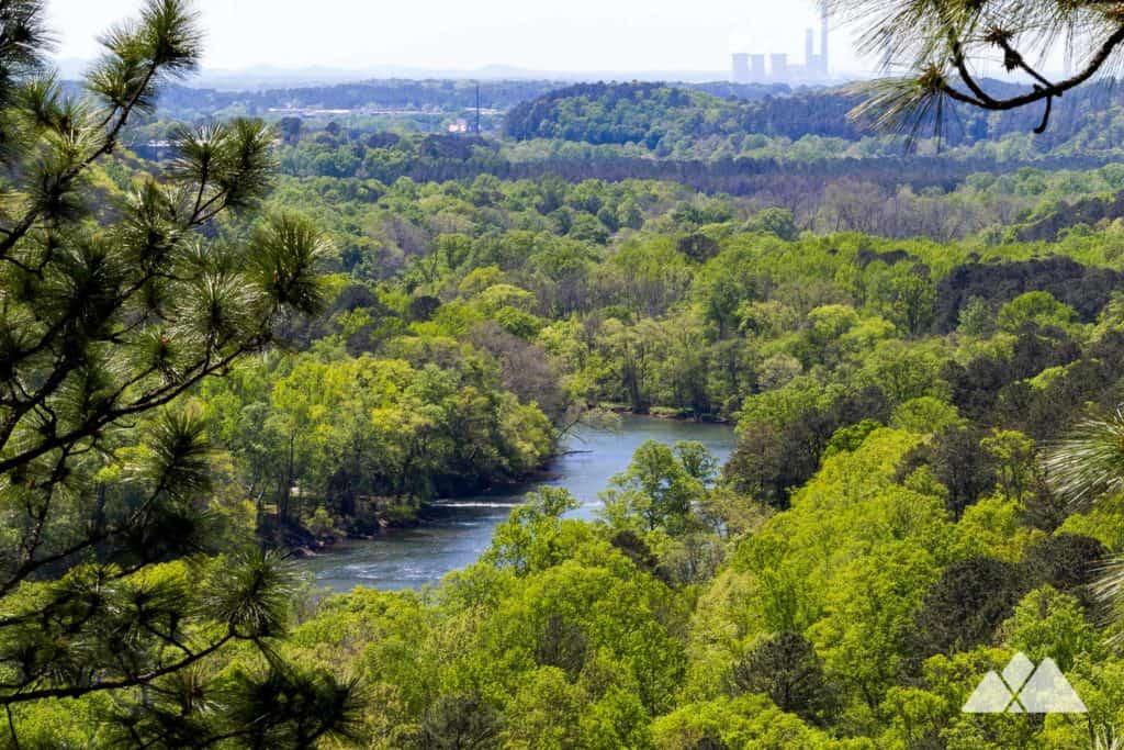 Hike the Laurel Ridge Trail to beautiful views of Lake Allatoona, the Etowah River, and Cooper's Furnace, just north of Atlanta, GA