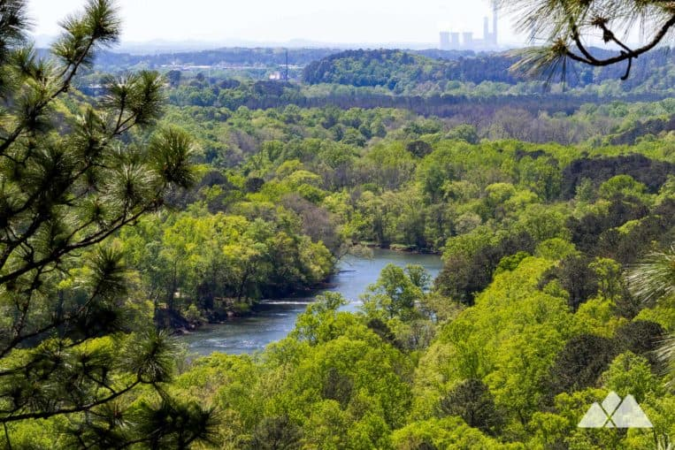 Hike the Laurel Ridge Trail to beautiful views of the Etowah River, Cooper's Furnace and Allatoona Lake just north of Atlanta, GA