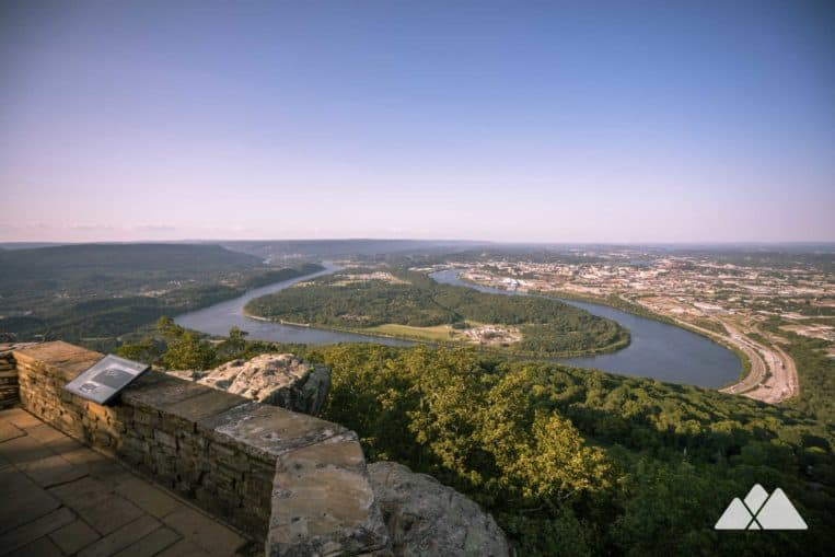 Hike to beautiful views of downtown Chattanooga from the lofty Point Park on Lookout Mountain
