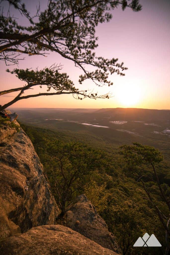 Hike to outstanding sunset views from Sunset Rock in Chattanooga, perched on the lofty bluffs of Lookout Mountain
