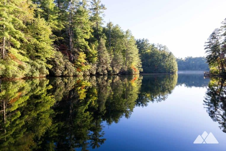 Unicoi Lake Trail: hike a scenic two miles on the lake shore at Unicoi State Park near Helen, GA