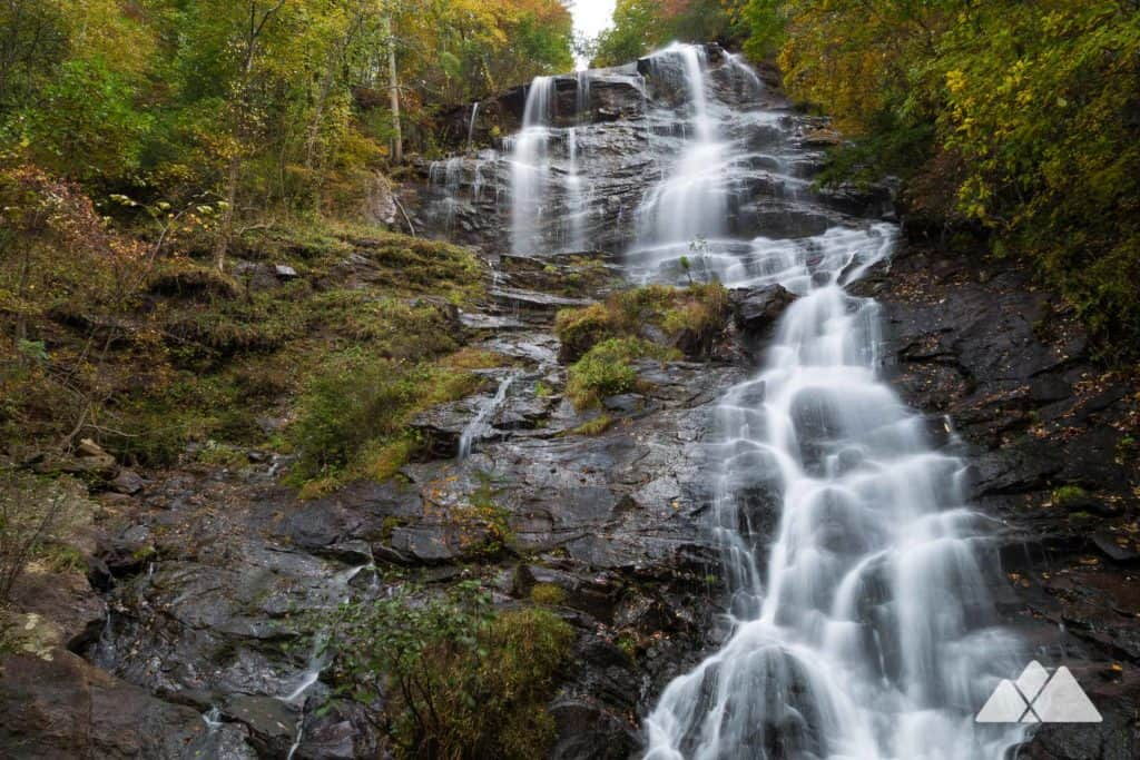Hike Amicalola Falls State Park in autumn to stunning waterfall views framed in fall leaf color