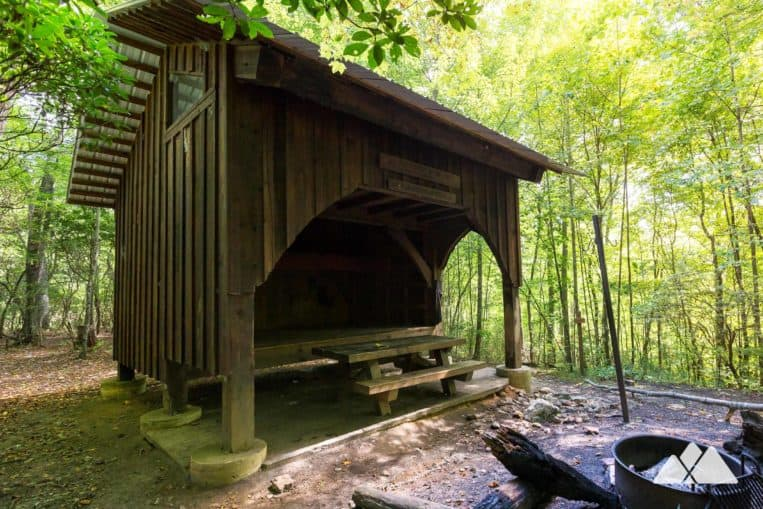 Plum Orchard Gap Shelter: hike the Appalachian Trail from Dicks Creek Gap to Bly Gap on the NC GA state line