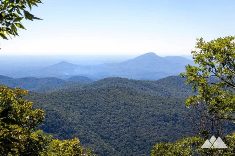 Hike the Appalachian Trail from Unicoi Gap, climbing to stunning views at Rocky Mountain and Tray Mountain