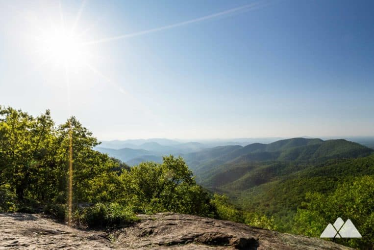 Take a family hike to Preacher's Rock on the Appalachian Trail in Georgia