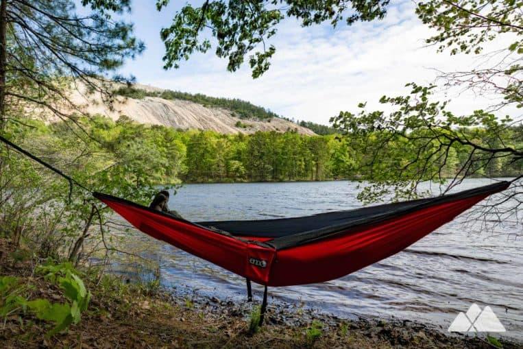 Great places to hammock near Atlanta: Stone Mountain Lake