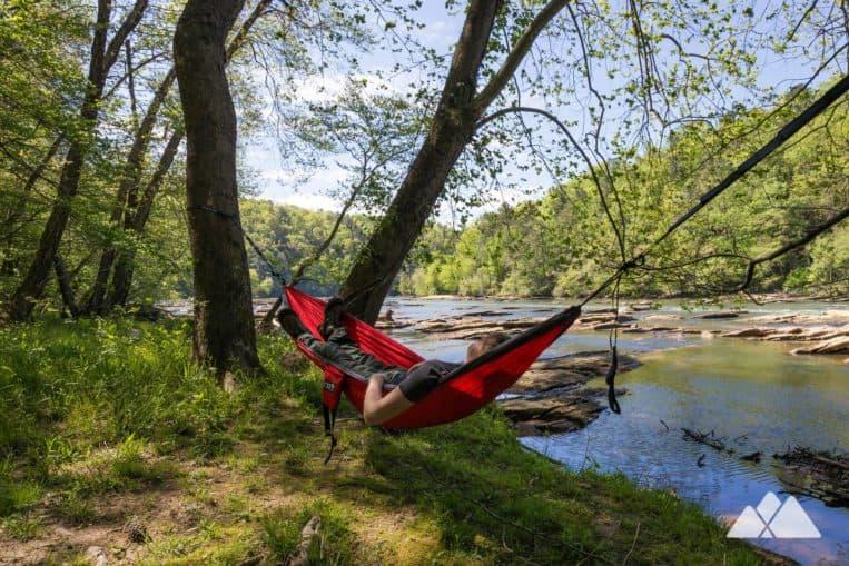 Our favorite spots to hang an ENO hammock near Atlanta: the Chattahoochee River at East Palisades