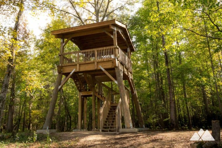 Chattahoochee Bend State Park: hike to a wooden oberservation tower on the banks of the Chattahoochee River near Atlanta