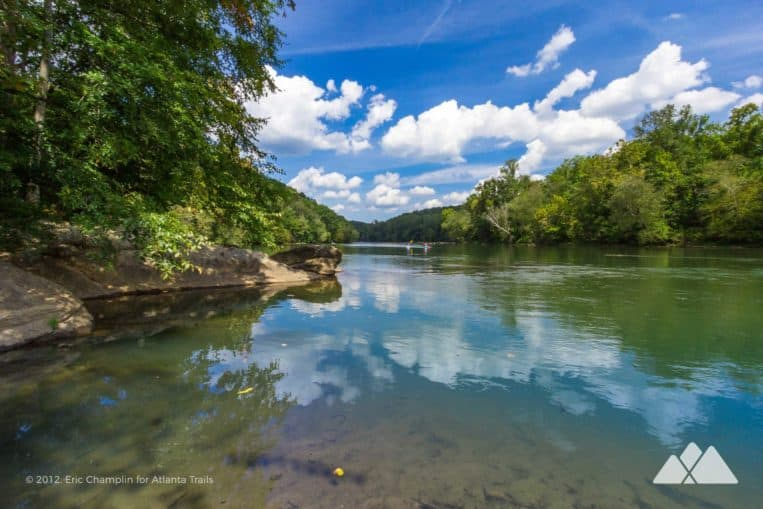 Run the paved West Palisades Trail at Paces Mill Park, catching stunning views of the metro Atlanta stretch of the Chattahoochee River near Vinings