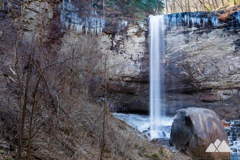 Hike Cloudland Canyon in winter to catch views of Hemlock Falls, crusted in frost and icicles
