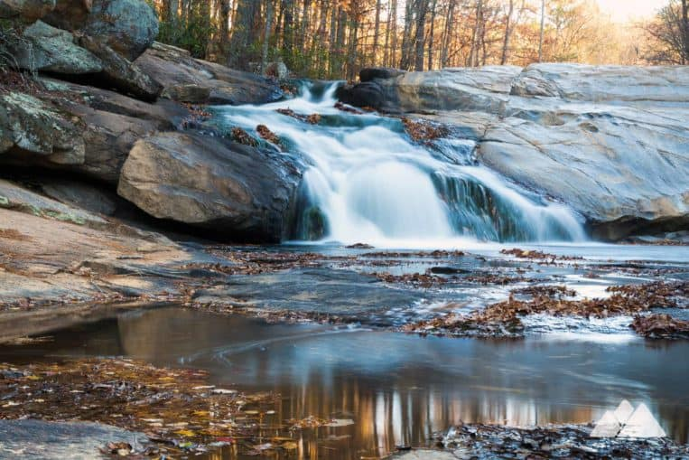 Cochran Mill Park: hike to the tumbling cascades of Henry Mill Falls just south of Atlanta, GA
