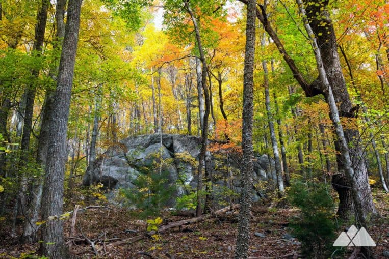 Gahuti Trail: explore a beautiful, rocky autumn forest at Fort Mountain State Park in North Georgia