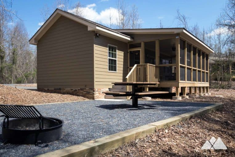 Fort Yargo State Park's newest cabins, Camper Cabins are modern design and nicely equipped for an adventure