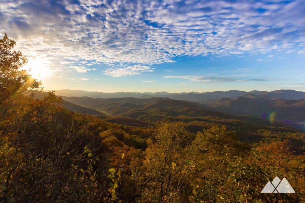 Hike Black Rock Mountain, Georgia's highest-elevation state park, to catch early-season leaf color from the Tennessee Rock overlook