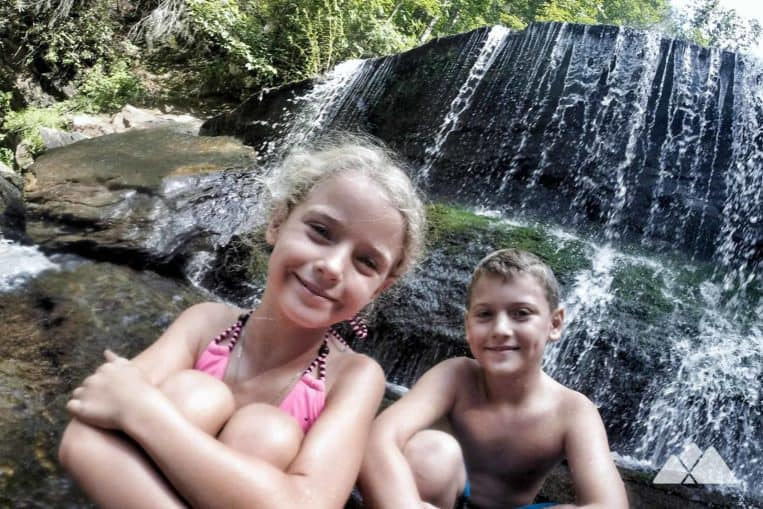 Top family hikes in Georgia: hike to Panther Creek Falls, one of North Georgia's most beautiful waterfalls