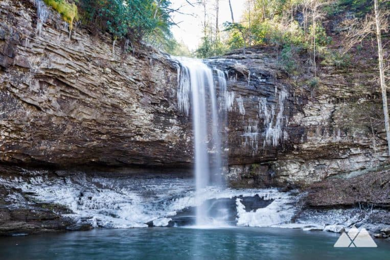 Hike Cloudland Canyon State Park in winter for views of icy waterfalls and wide Georgia winter panoramas