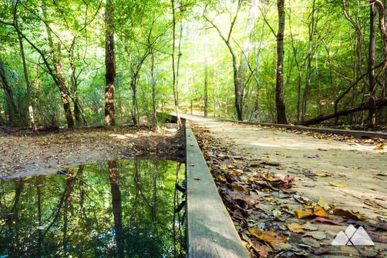 Gold Branch Trail: hike to Bull Sluice Lake on the Chattahoochee River in metro Atlanta