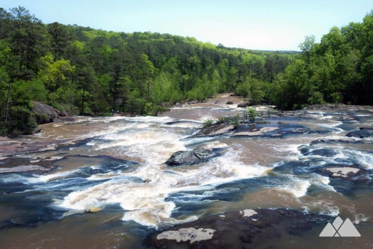 High Falls State Park: hike the Falls Trail to beautiful waterfall views near Macon, GA