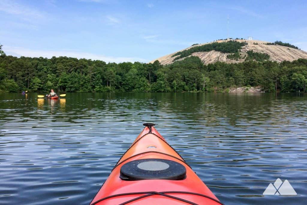 Kayaking Stone Mountain Lake In Atlanta