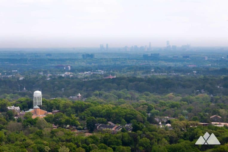 Kennesaw Mountain Battlefield Trail: hike to beautiful Atlanta skyline views from a rocky mountain summit
