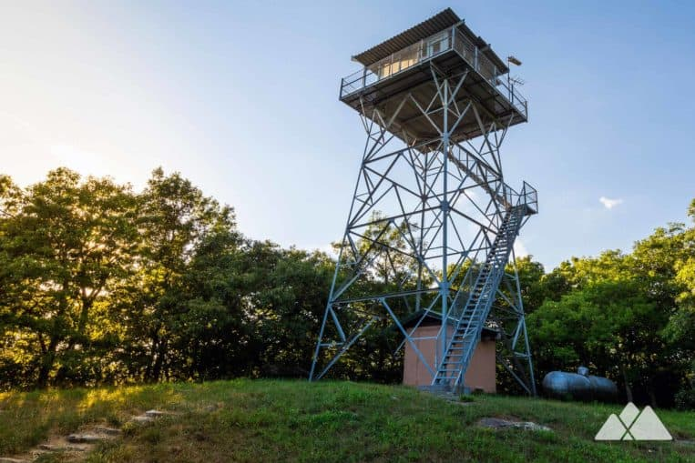 Grassy Mountain Tower: hike to a historic fire lookout tower in Georgia's Cohutta Wilderness at Lake Conasauga