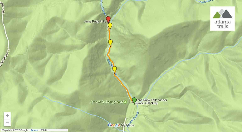 Anna Ruby Falls Atlanta Trails