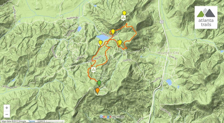 James E Edmonds Trail at Black Rock Mountain State Park
