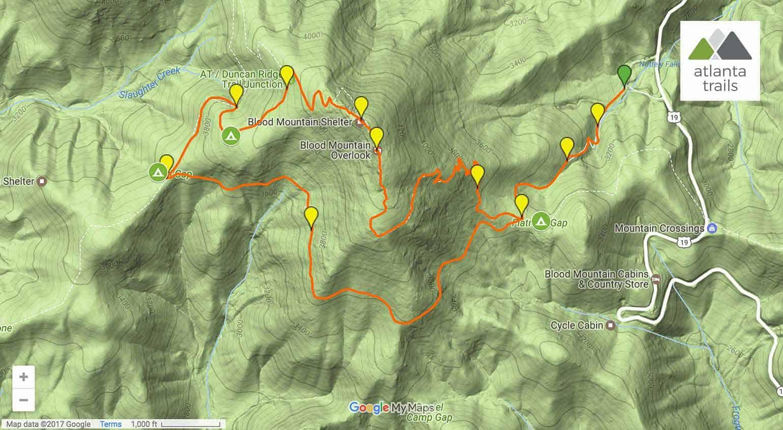 Blood Mountain Loop: Hiking the Appalachian Trail & Freeman Trail