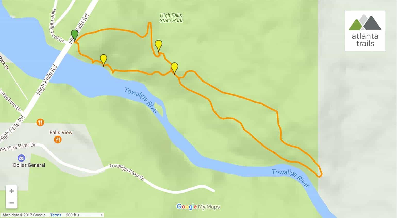 Water Dog Lake Park Trail Map